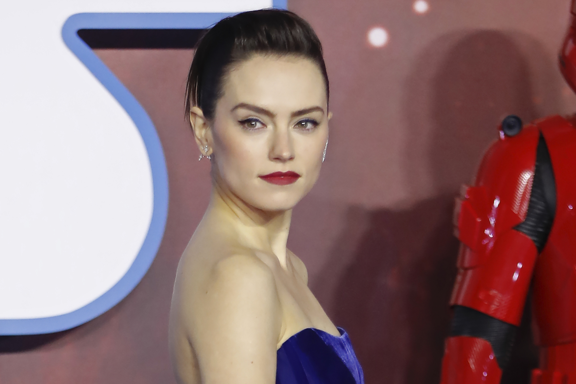 Daisy Ridley at the European film premiere of 'Star Wars: The Rise of Skywalker' in on Dec. 18, 2019