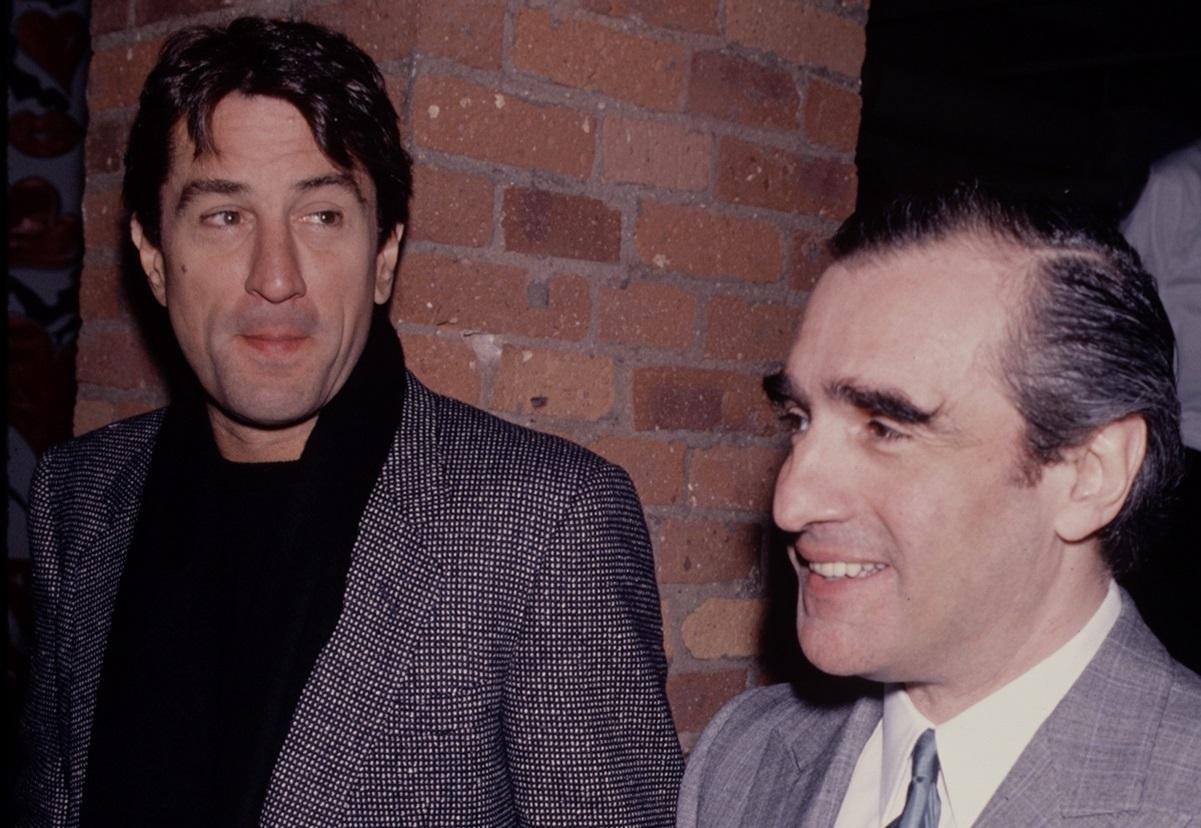 Robert De Niro and Martin Scorsese at a 1990event