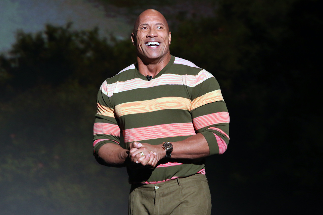 Dwayne Johnson of 'Jungle Cruise' took part in the Walt Disney Studios presentation at Disney's D23 EXPO 2019