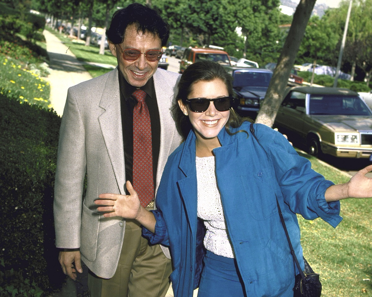 Carrie Fisher and father, singer Eddie Fisher.