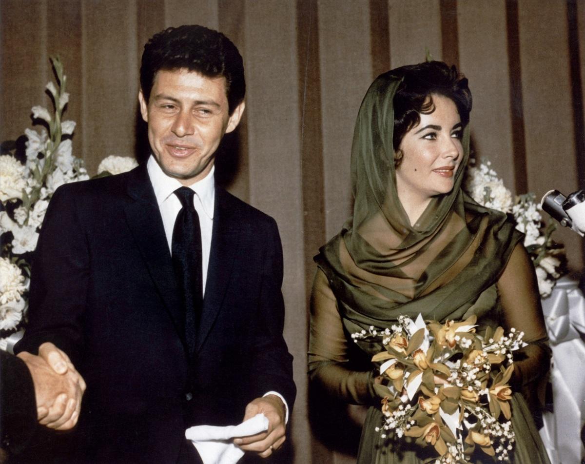 Liz Taylor and her fourth husband Eddie Fisher.