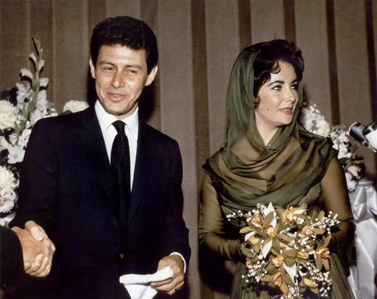 Liz Taylor and her fourth husband Eddie Fisher.