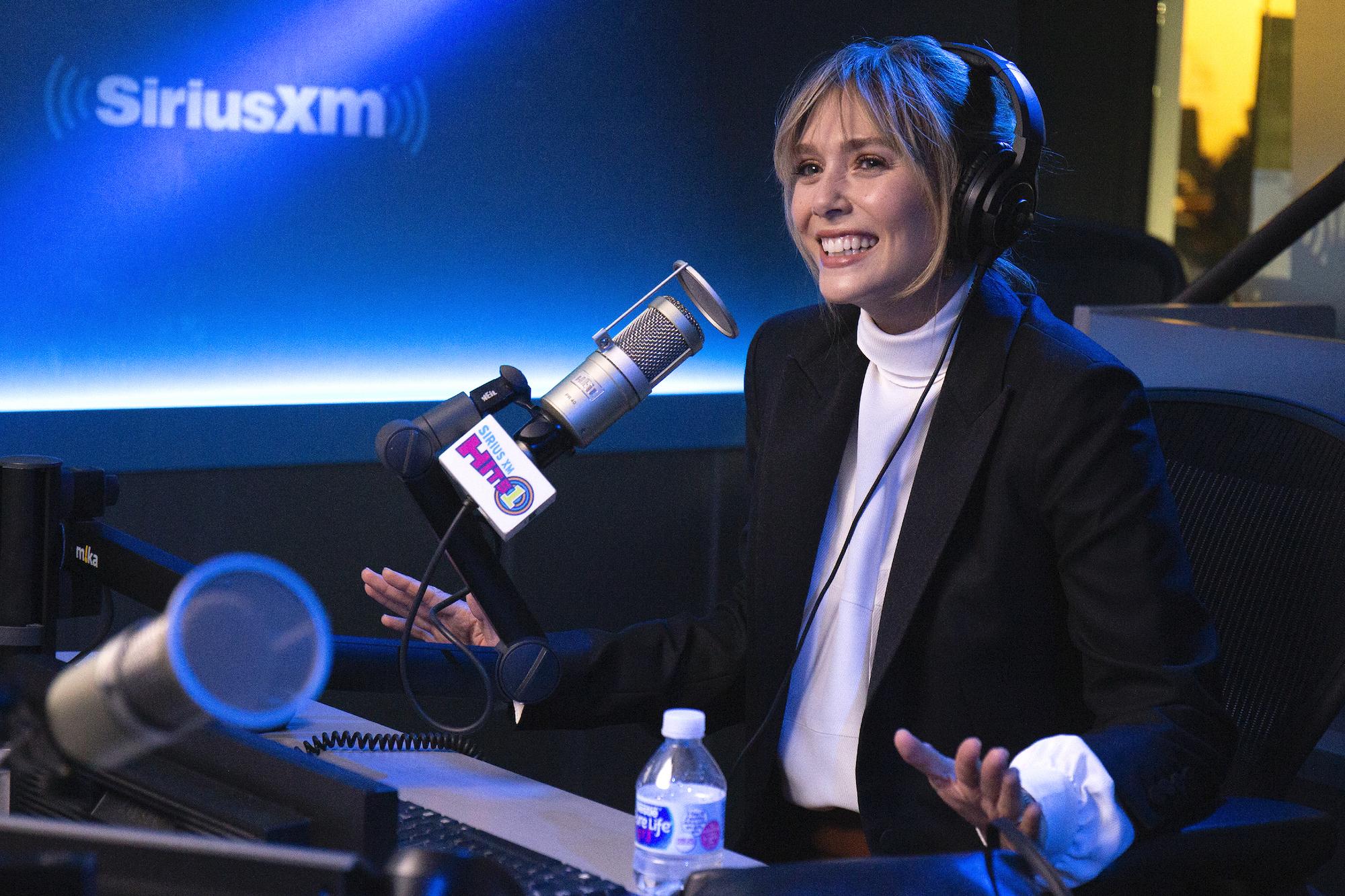 Elizabeth Olsen at SiriusXM Studios on October 08, 2019.