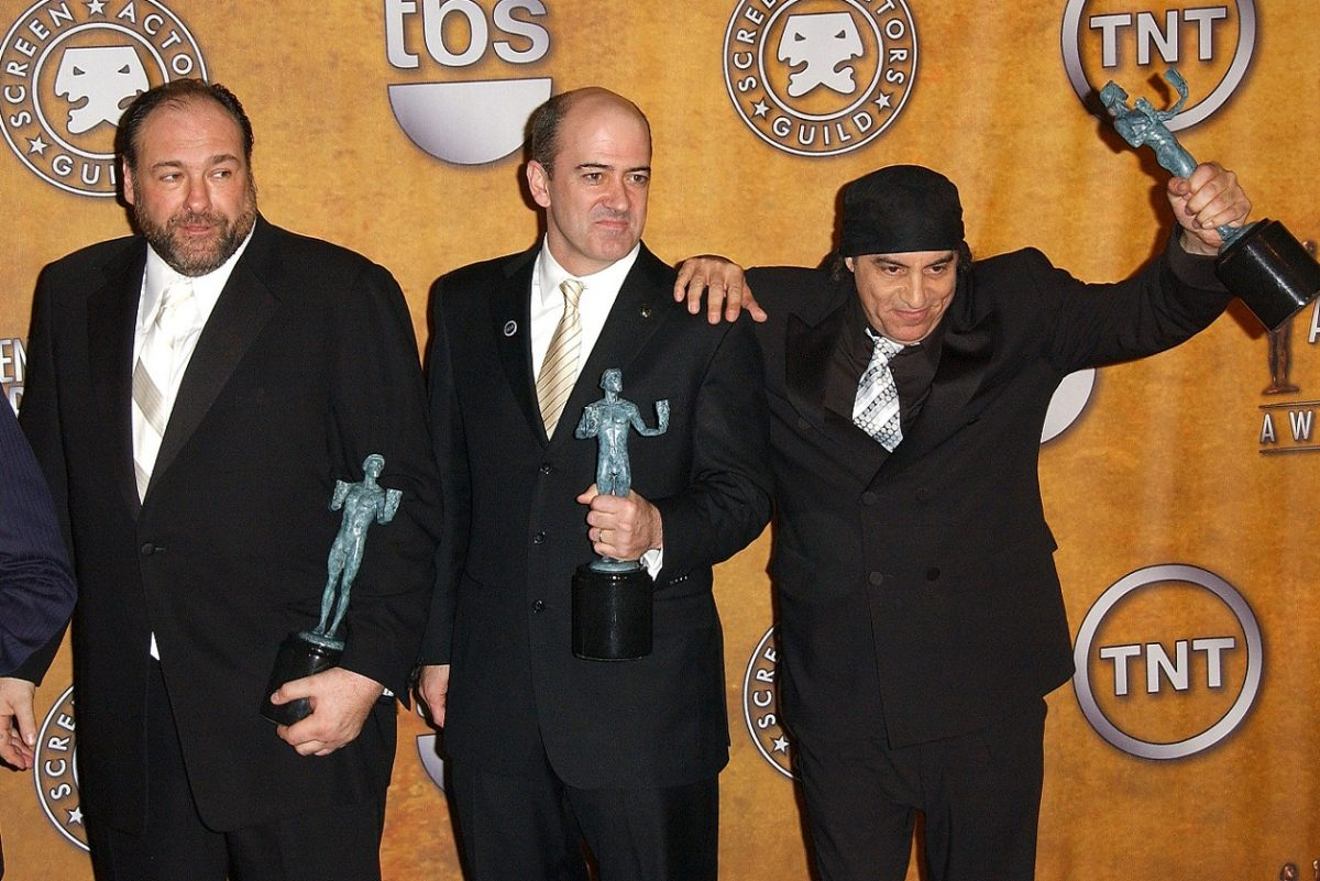 James Gandolfini with Matt Servitto and Steve Van Zandt in 2008