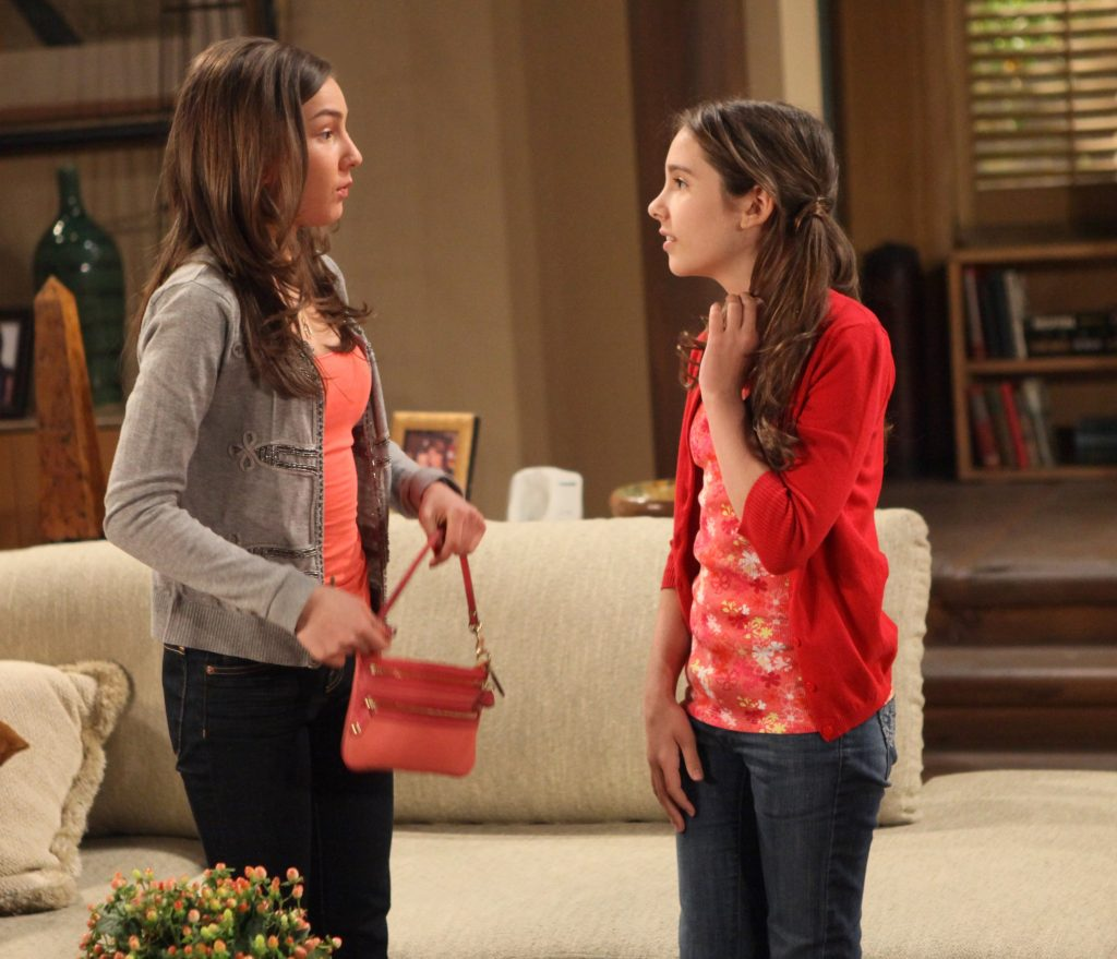 Lexi Ainsworth (Kristina) and Haley Pullos on 'General Hospital' in 2010