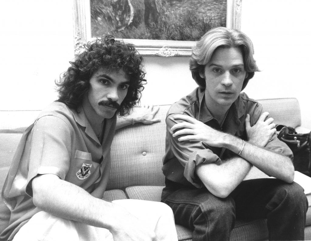 Hall & Oates on a couch