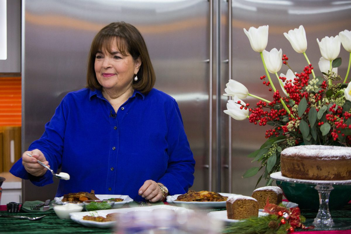 'Barefoot Contessa' host Ina Garten plates food on the Today show in 2017
