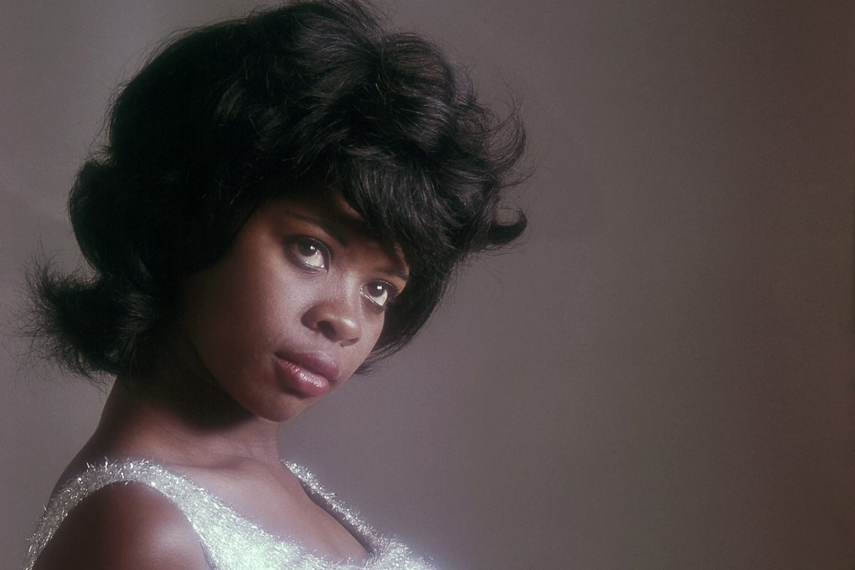 Irma Thomas poses for a publicity photo in a sparkling dress, circa 1965