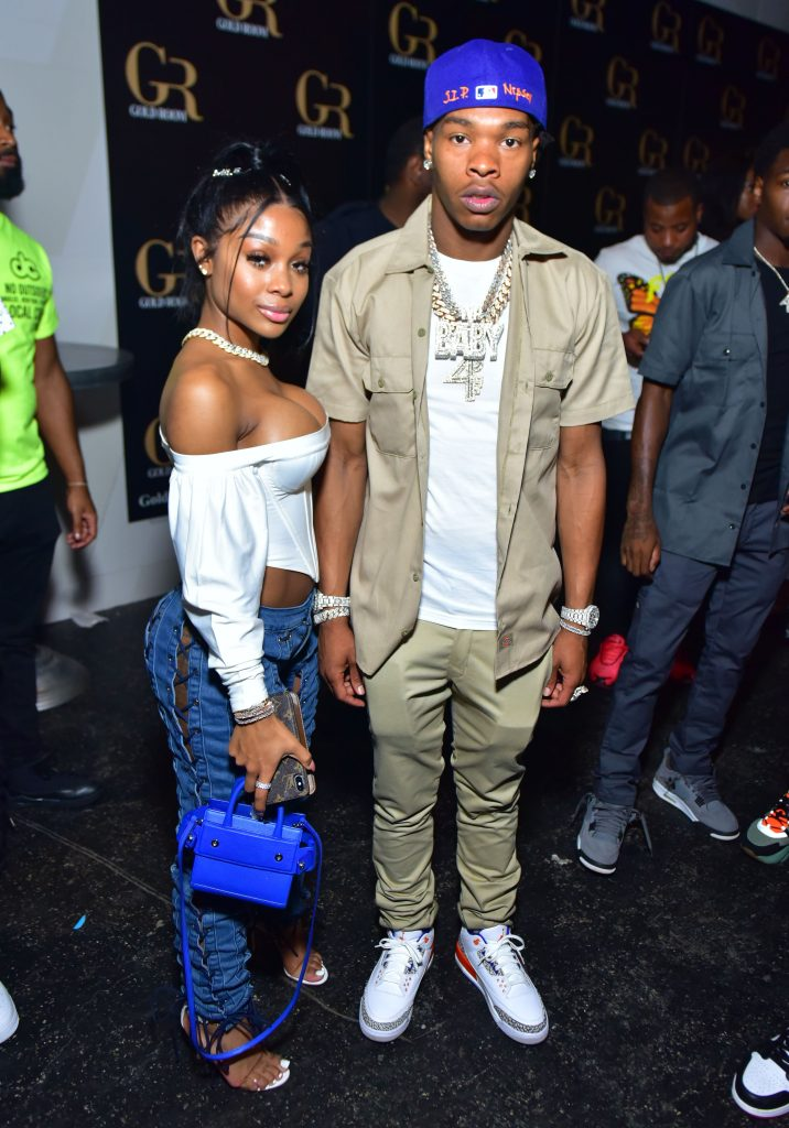 Jayda Cheaves and Lil Baby at a party