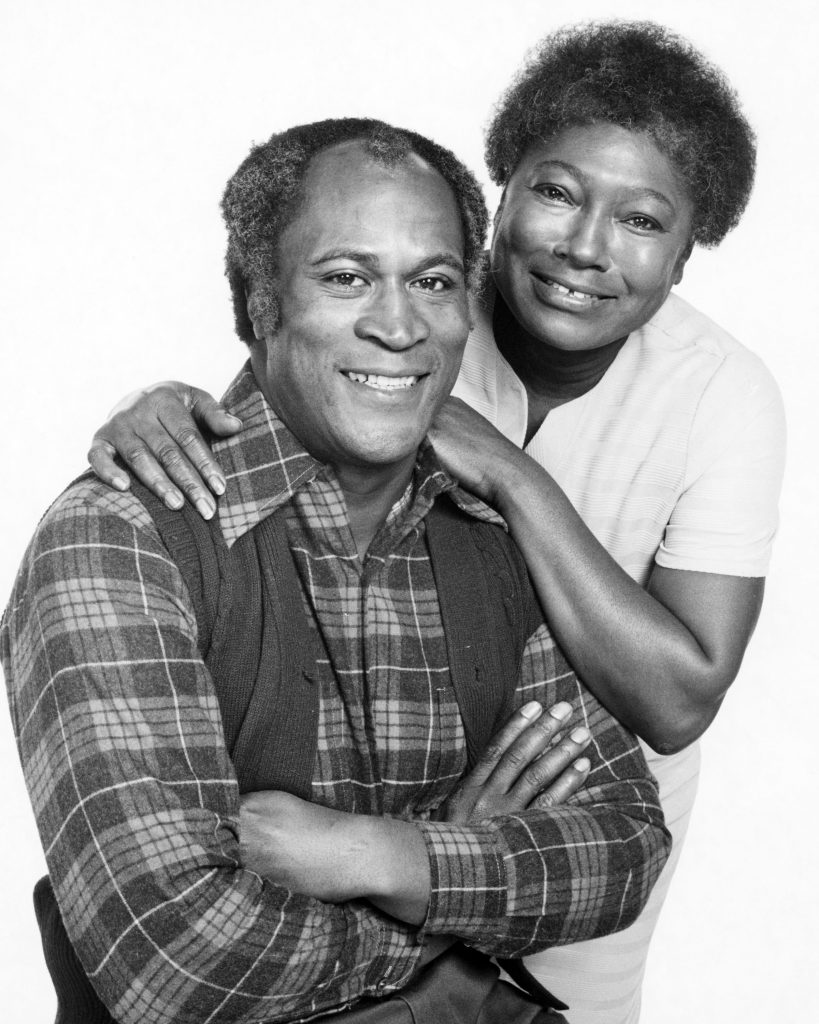Esther Rolle standing behind John Amos for a 'Good Times' promo