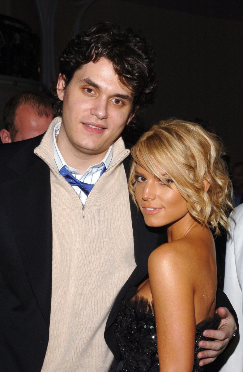 John Mayer and Jessica Simpson during Clive Davis' 2005 Pre-GRAMMY Awards Party