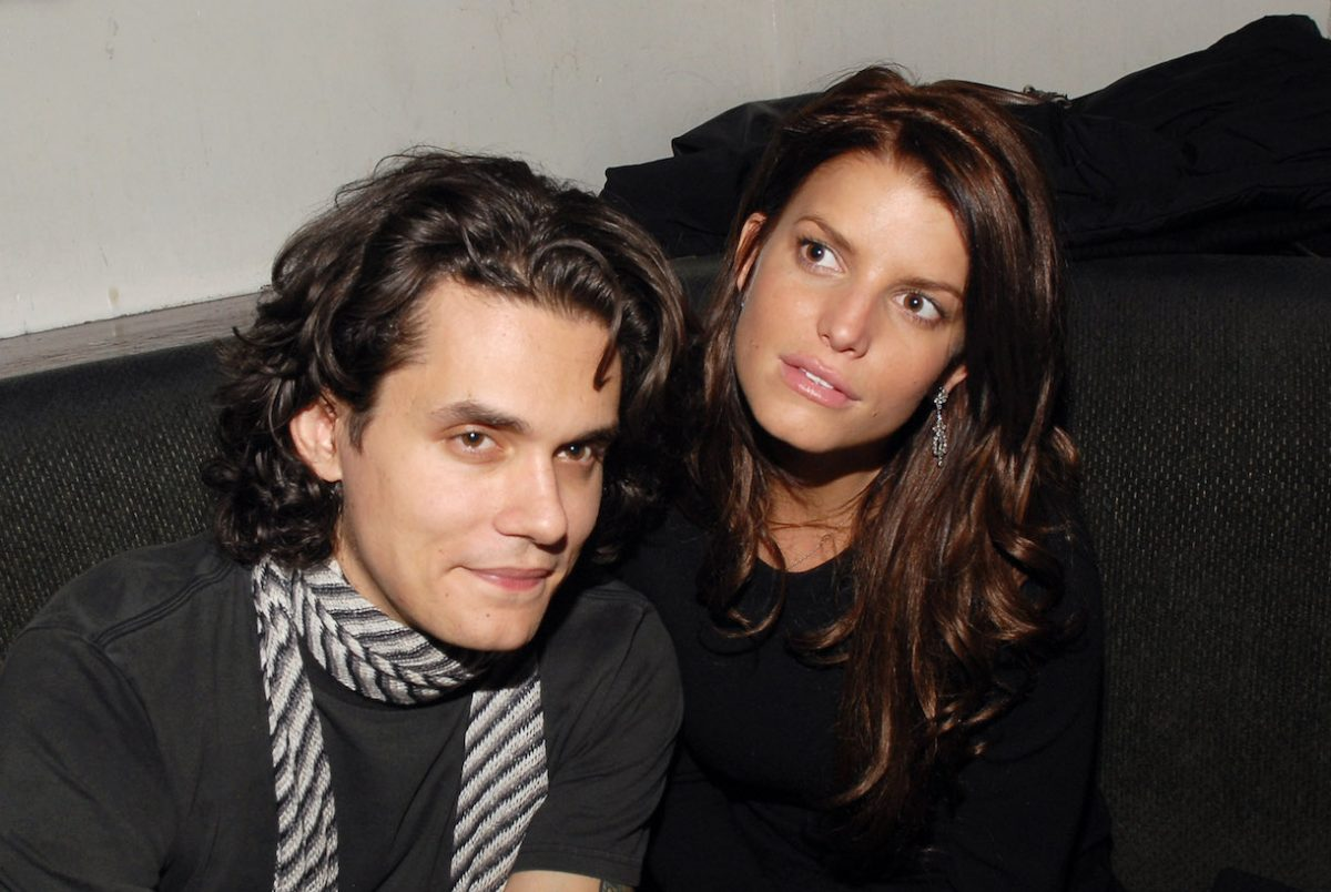 John Mayer and Jessica Simpson at the Stereo in New York City