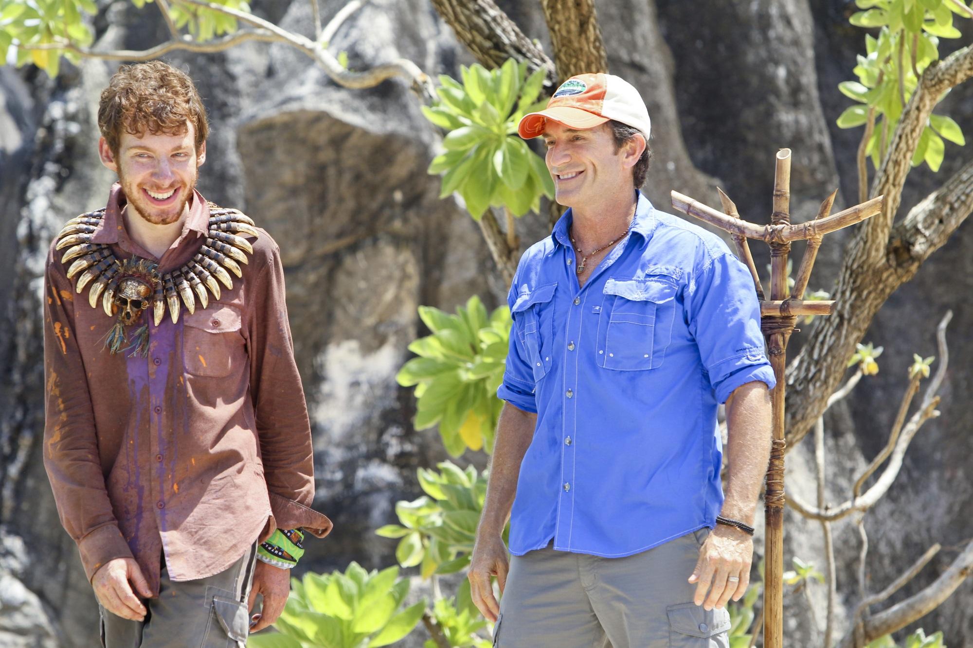 Jeff Probst and John Cochran on Survivor