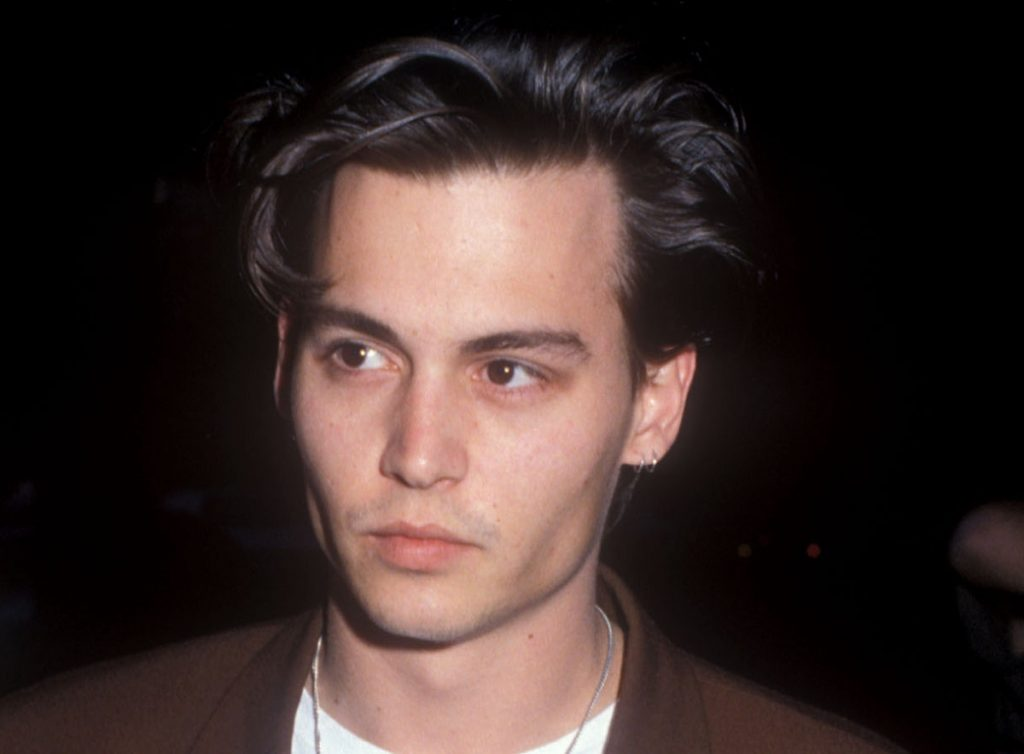 Johnny Depp attending a screening of his show '21 Jump Street' in 1989.