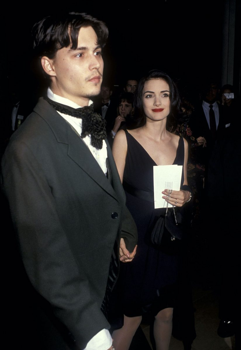 Johnny Depp and actress Winona Ryder in 1991