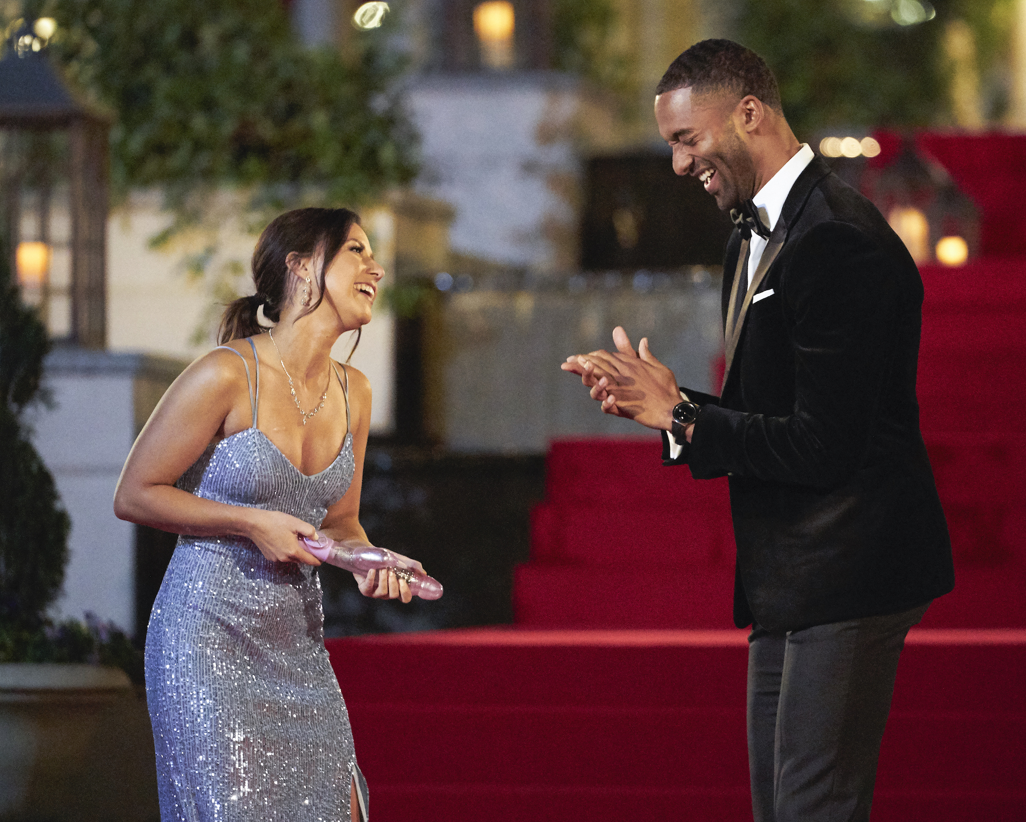 Katie Thurston with her vibrator on Night 1, and Matt James on 'THE BACHELOR'