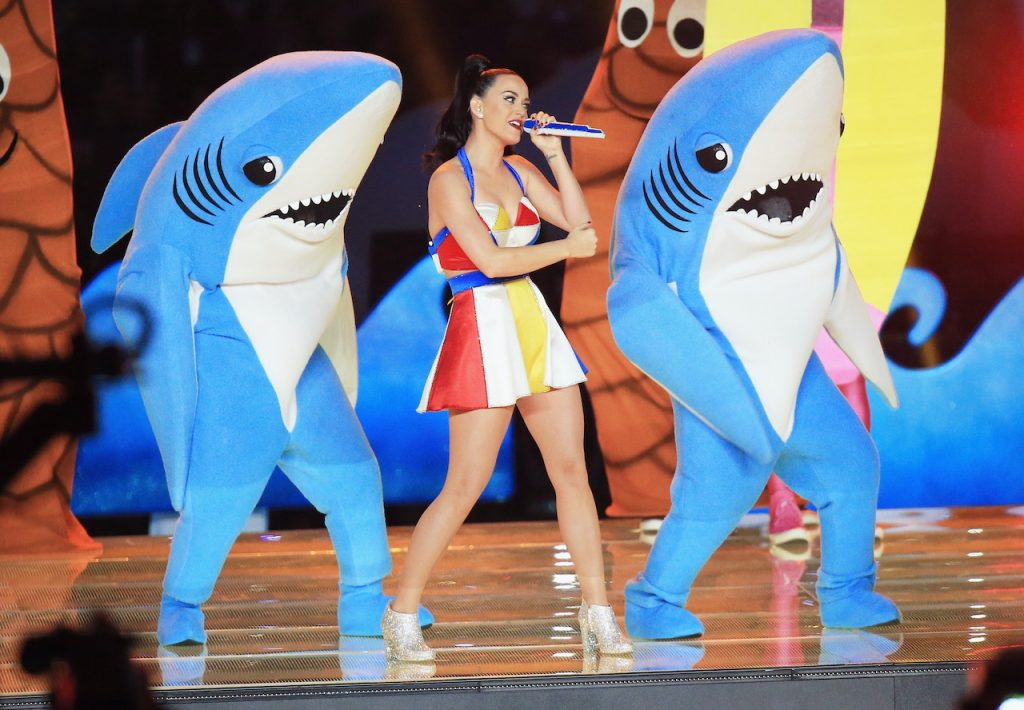 Katy Perry performs onstage during the Pepsi Super Bowl XLIX Halftime Show