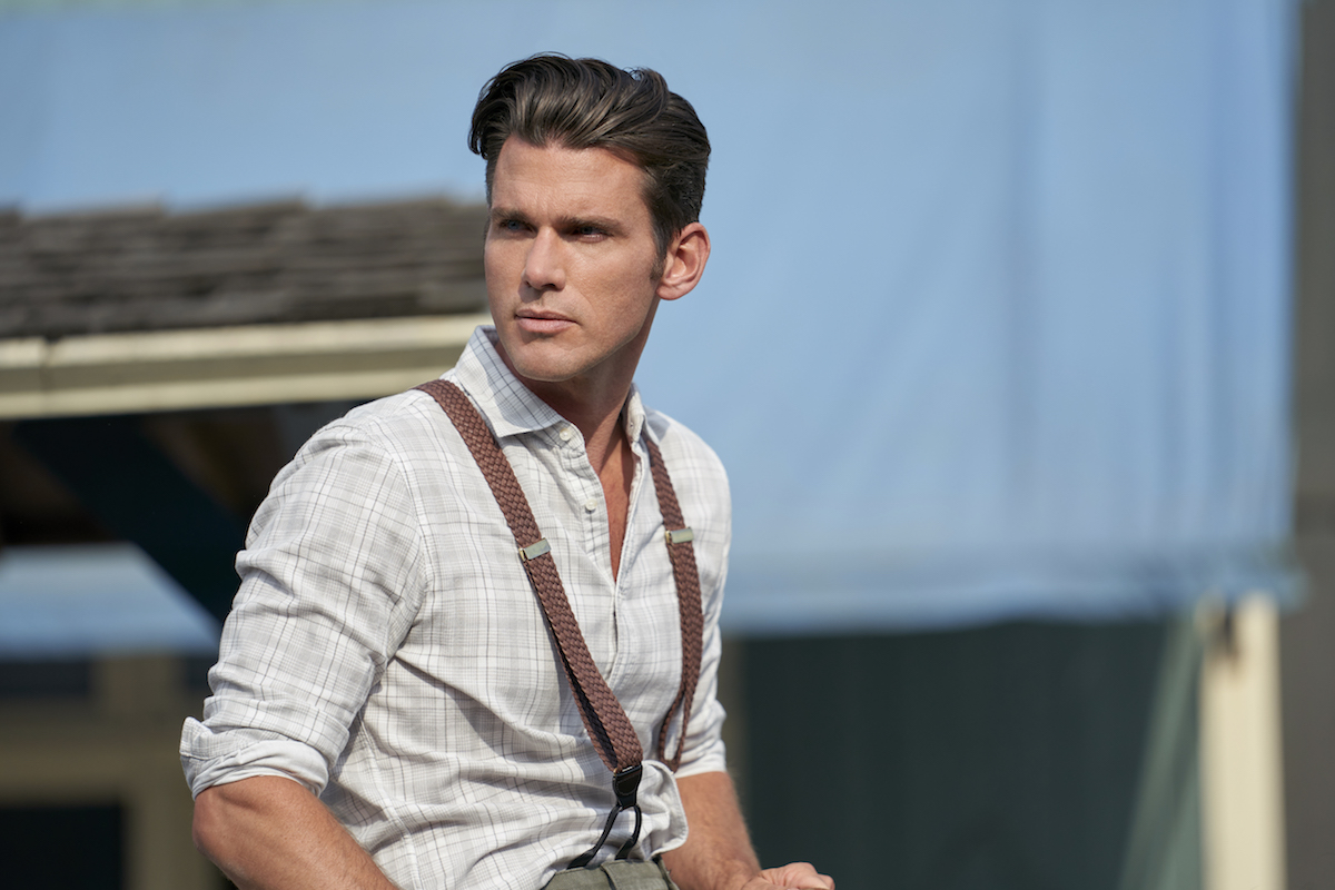 Kevin McGarry as Nathan wearing suspenders