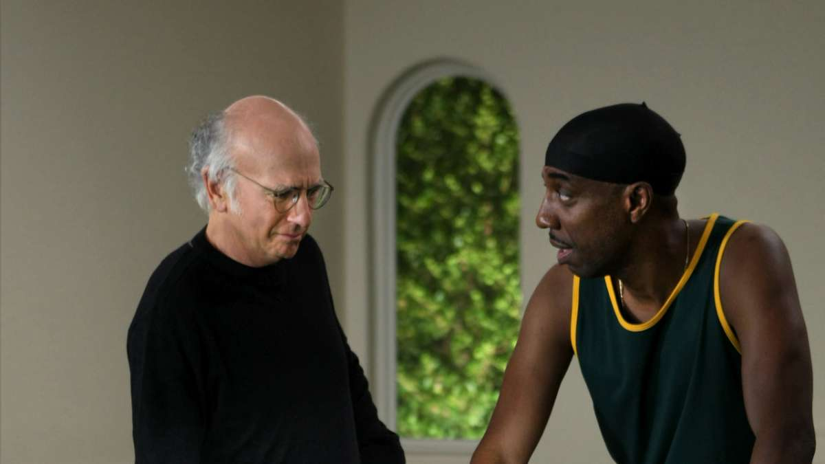 Larry David and J.B. Smoove perform in a scene from 'Curb Your Enthusiasm'