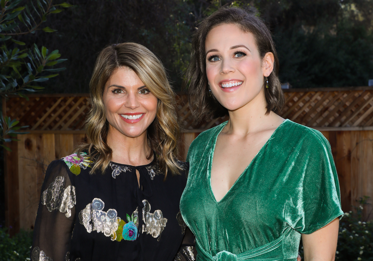 Lori Loughlin and Erin Krakow at an event at Universal Studios Hollywood