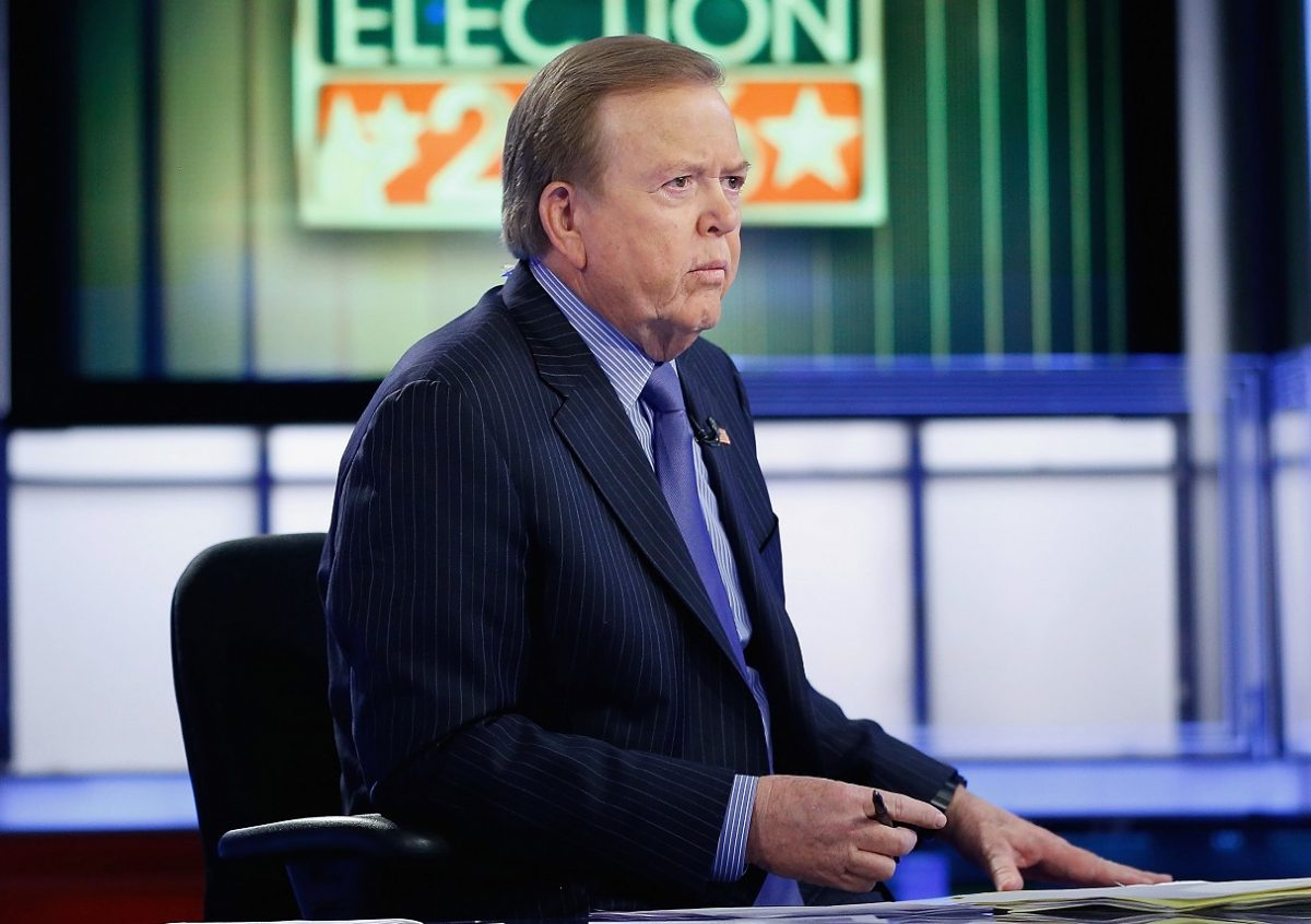Lou Dobbs at his desk on his Fox Business show