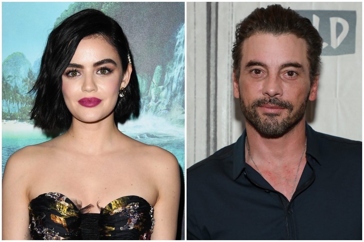 A composite image of Lucy Hale (L) and Skeet Ulrich (R)