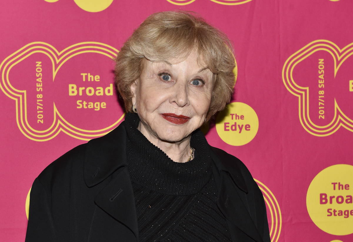 """Michael Learned at the """"Small Mouth Sounds"""" opening in 2018"""