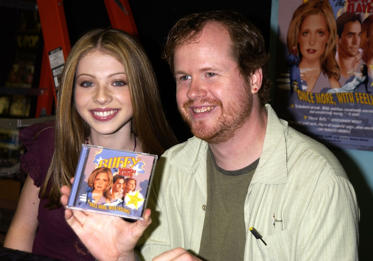 (L-R): Michelle Trachtenberg and Joss Whedon during 'Buffy The Vampire Slayer' 'Once More With Feeling' CD release in Hollywood, California.