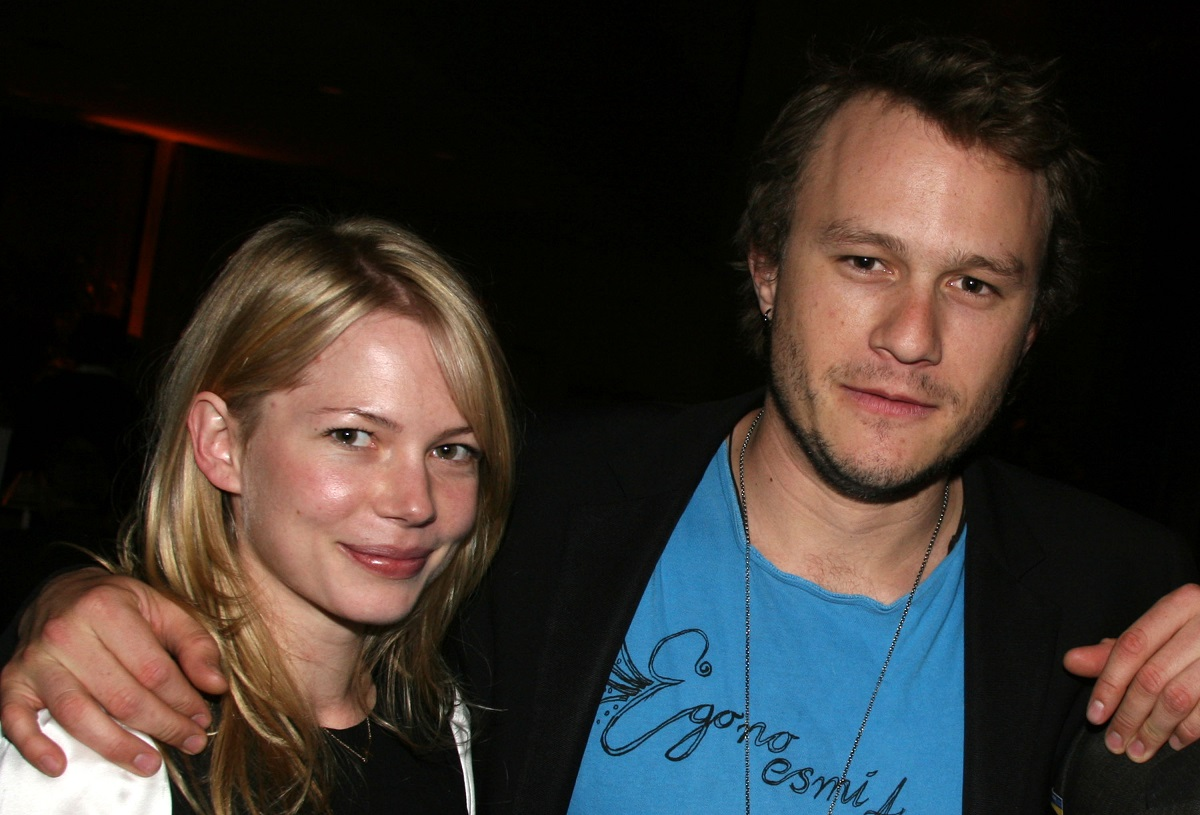 Michelle Williams and Heath Ledger during 'Awake and Sing' Opening Night - After Party on April 17, 2006, in New York City.