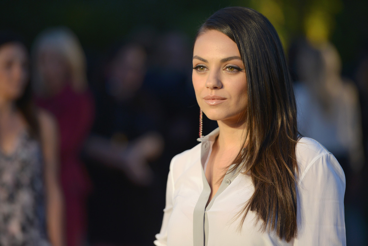 """Mila Kunis attends the Burberry """"London in Los Angeles"""" event at Griffith Observatory"""