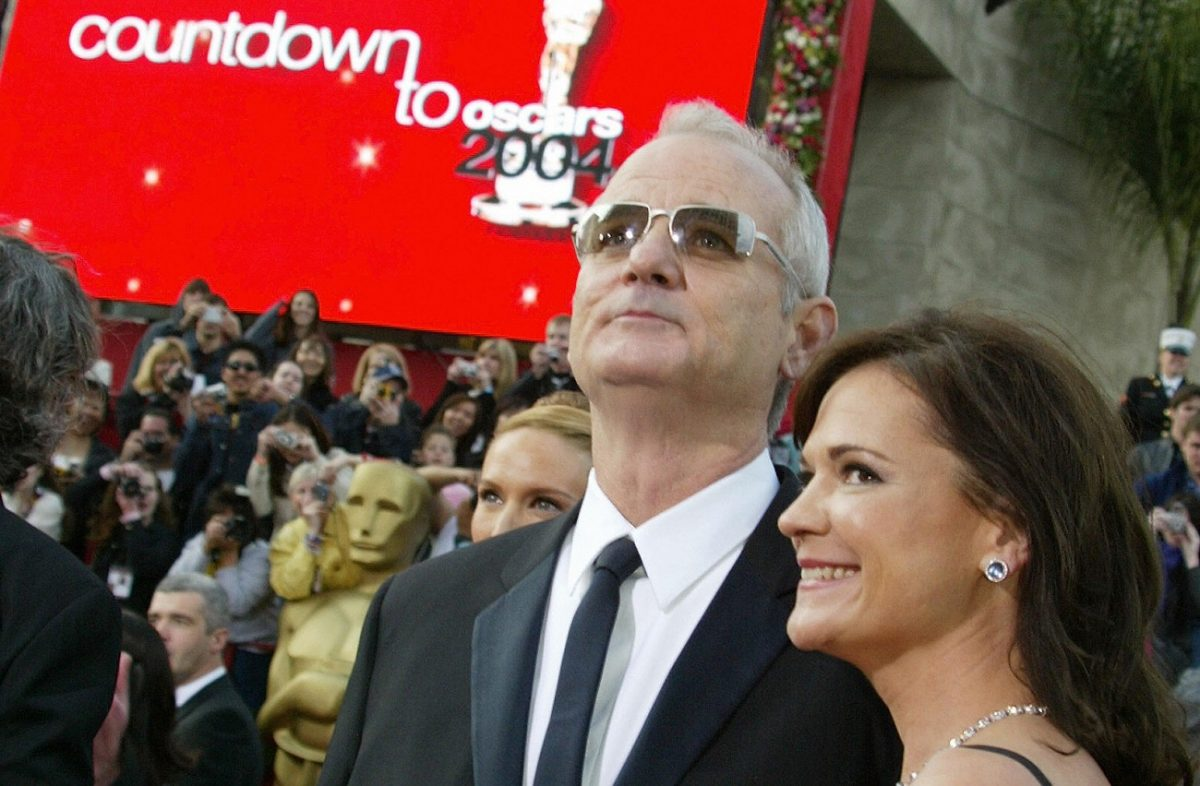 Bill Murray and his wife arriving for the 2004 Oscars