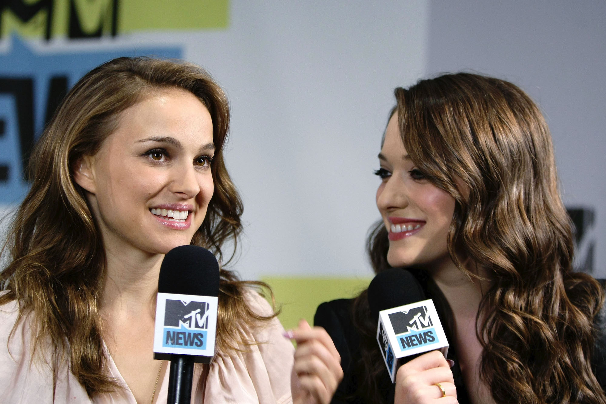 Natalie Portman and Kat Dennings at San Diego Comic-Con 2010 on July 24, 2010