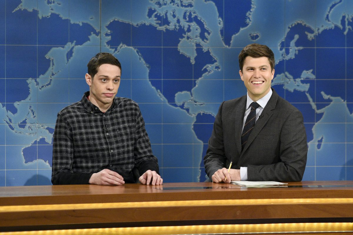 Pete Davidson on 'SNL' with Colin Jost during Weekend Update