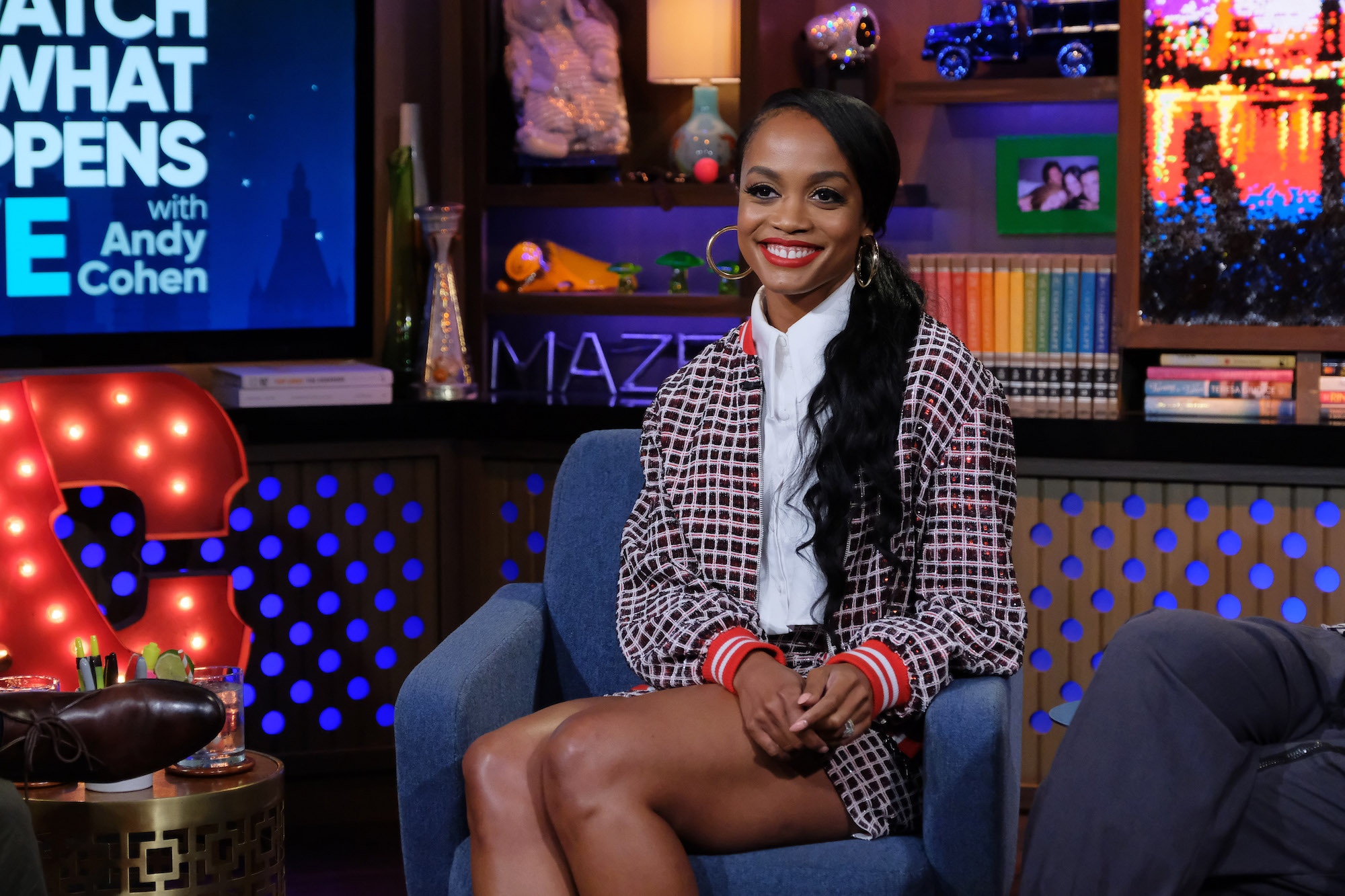 Rachel Lindsay on 'WATCH WHAT HAPPENS LIVE WITH ANDY COHEN' in 2019