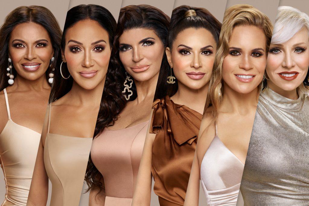 Dolores Catania, Melissa Gorga, Teresa Giudice, Jennifer Aydin, Jackie Goldschneider, and Margaret Josephs   Rodolfo Martinez/Bravo