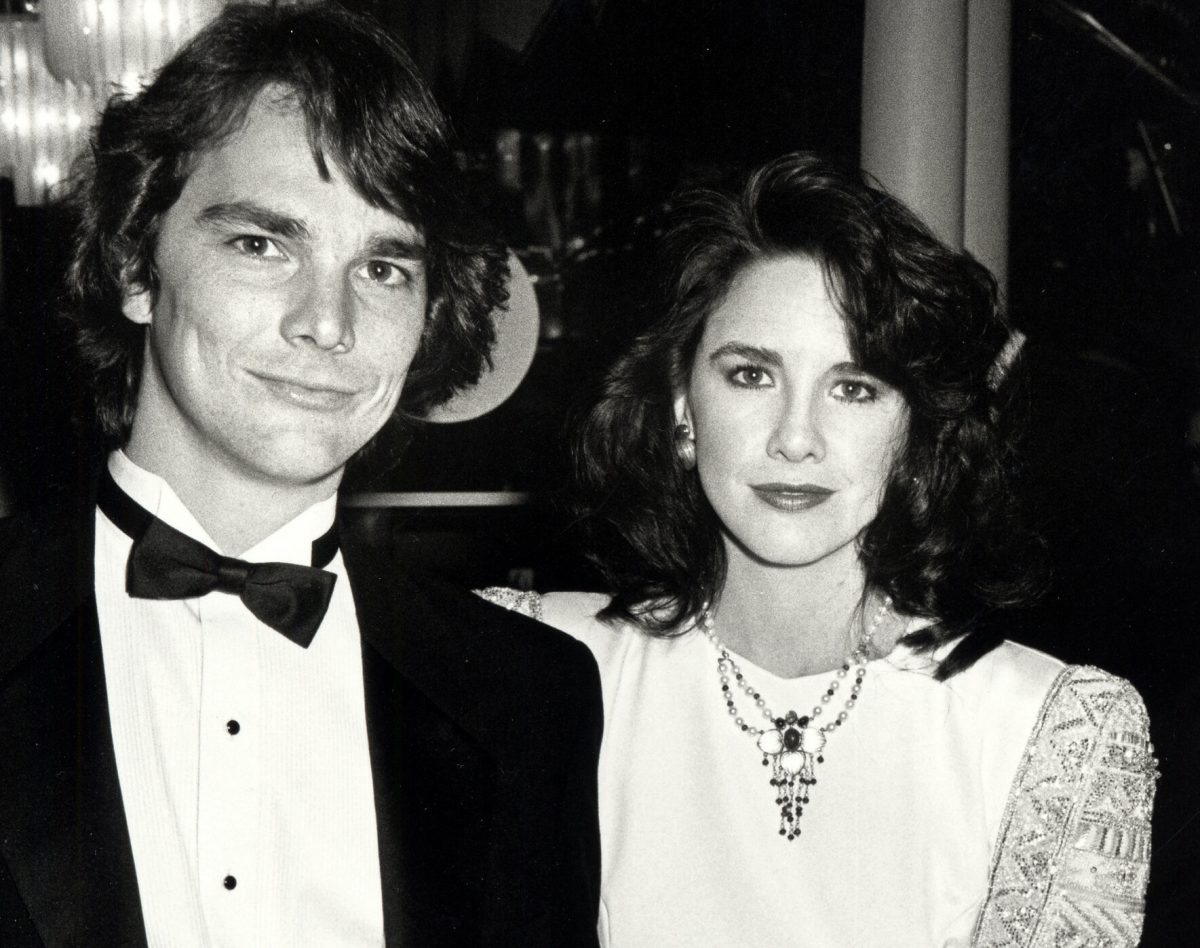 "Bo Brinkman and Melissa Gilbert attend the ""Hooray For Hollywood"" AIDS Benefit - April 5, 1988"