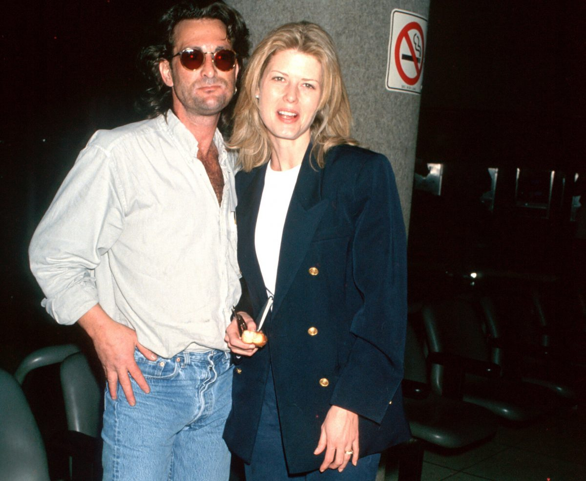 Danny Sugerman and Fawn Hall at LAX in 1993