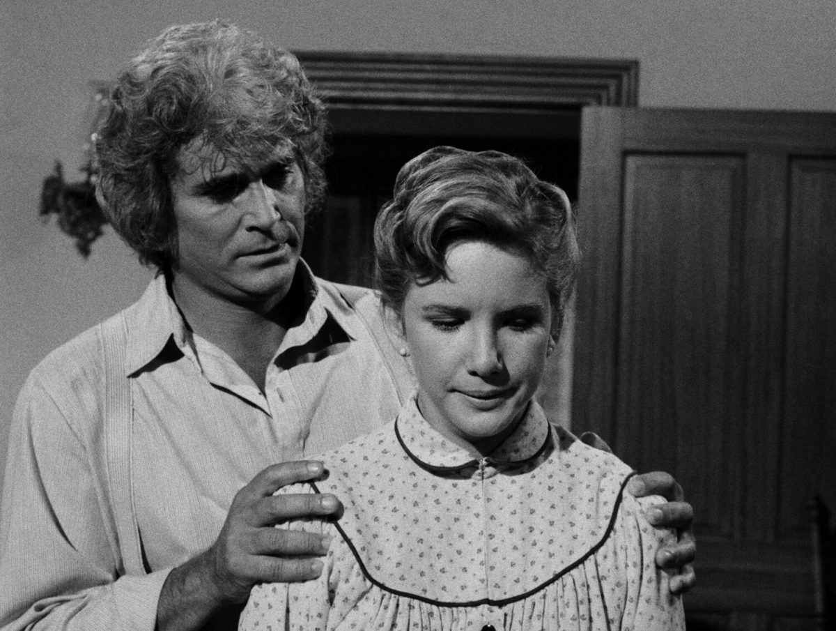 """Michael Landon and Melissa Gilbert in """"Little House: Look Back to Yesterday"""" Air Date 12/12/1983"""