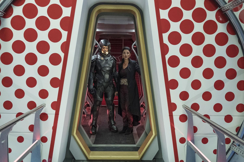 Frankie Adams as Bobbie Draper, Shohreh Aghdashloo as Chrisjen Avasarala on The Expanse