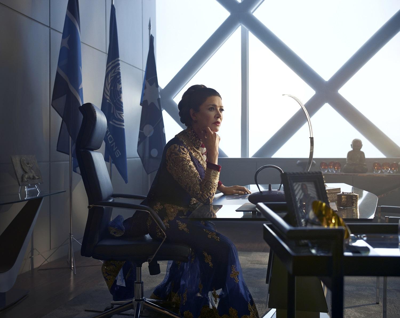 Shohreh Aghdashloo as Chrisjen Avasarala on The Expanse