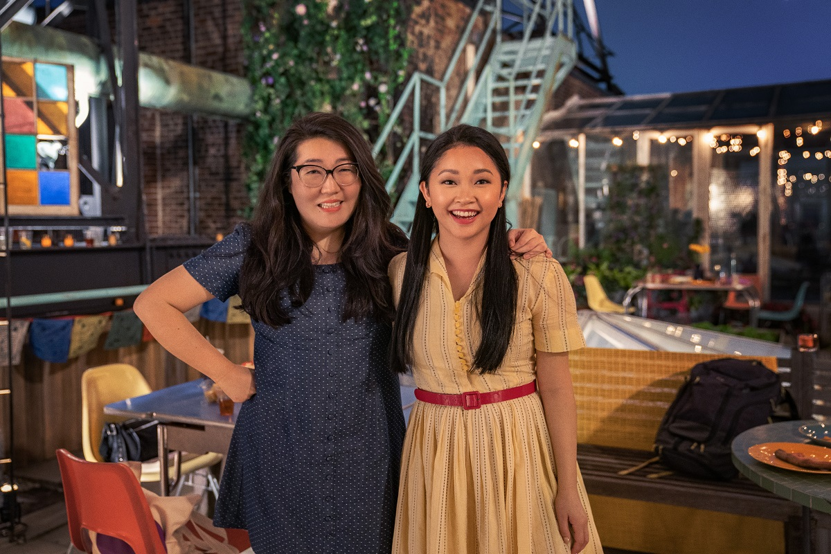 (L-R): Author Jenny Han and 'To All the Boys: Always and Forever' star Lana Condor