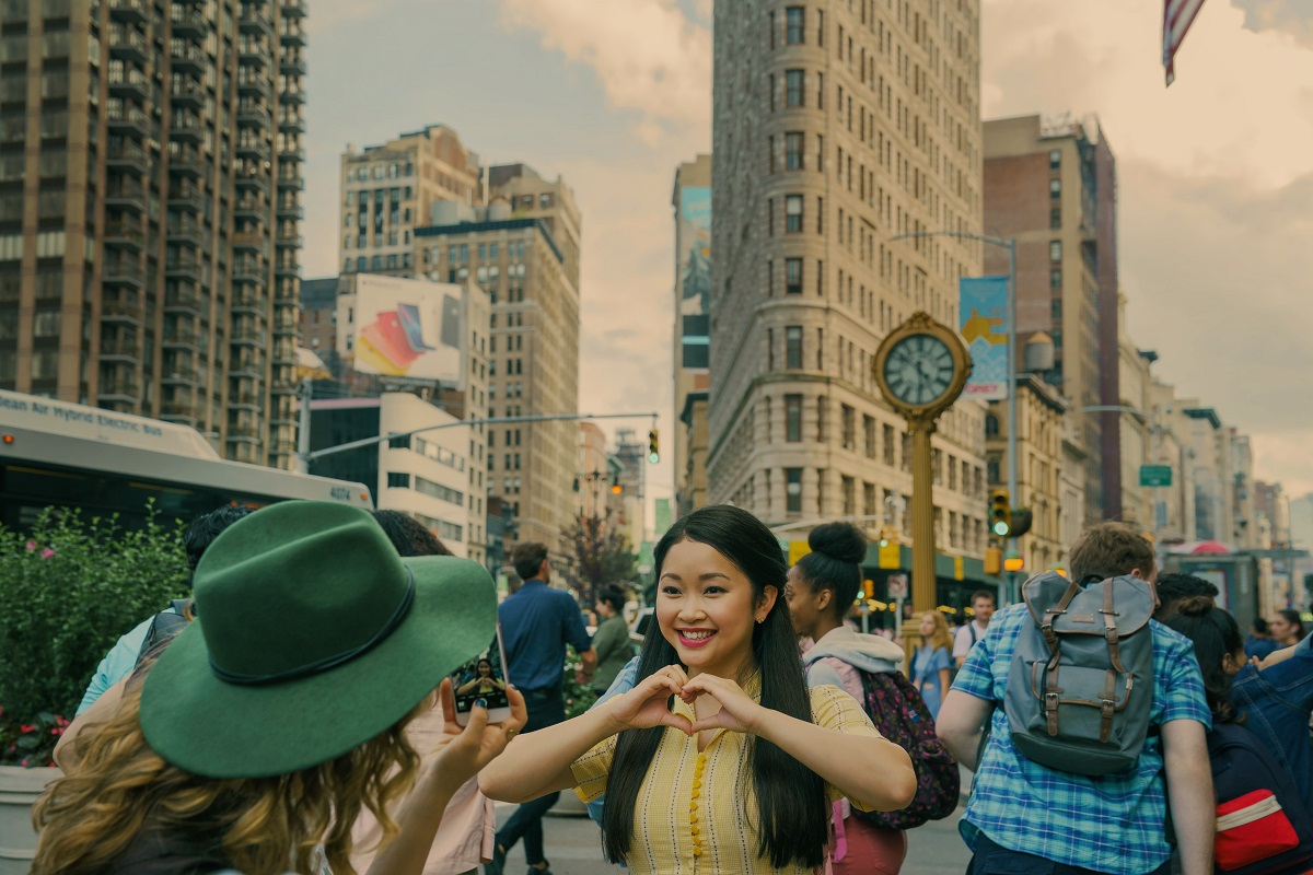 Lana Condor as Lara Jean Covey in New York City in 'To All the Boys: Always and Forever'