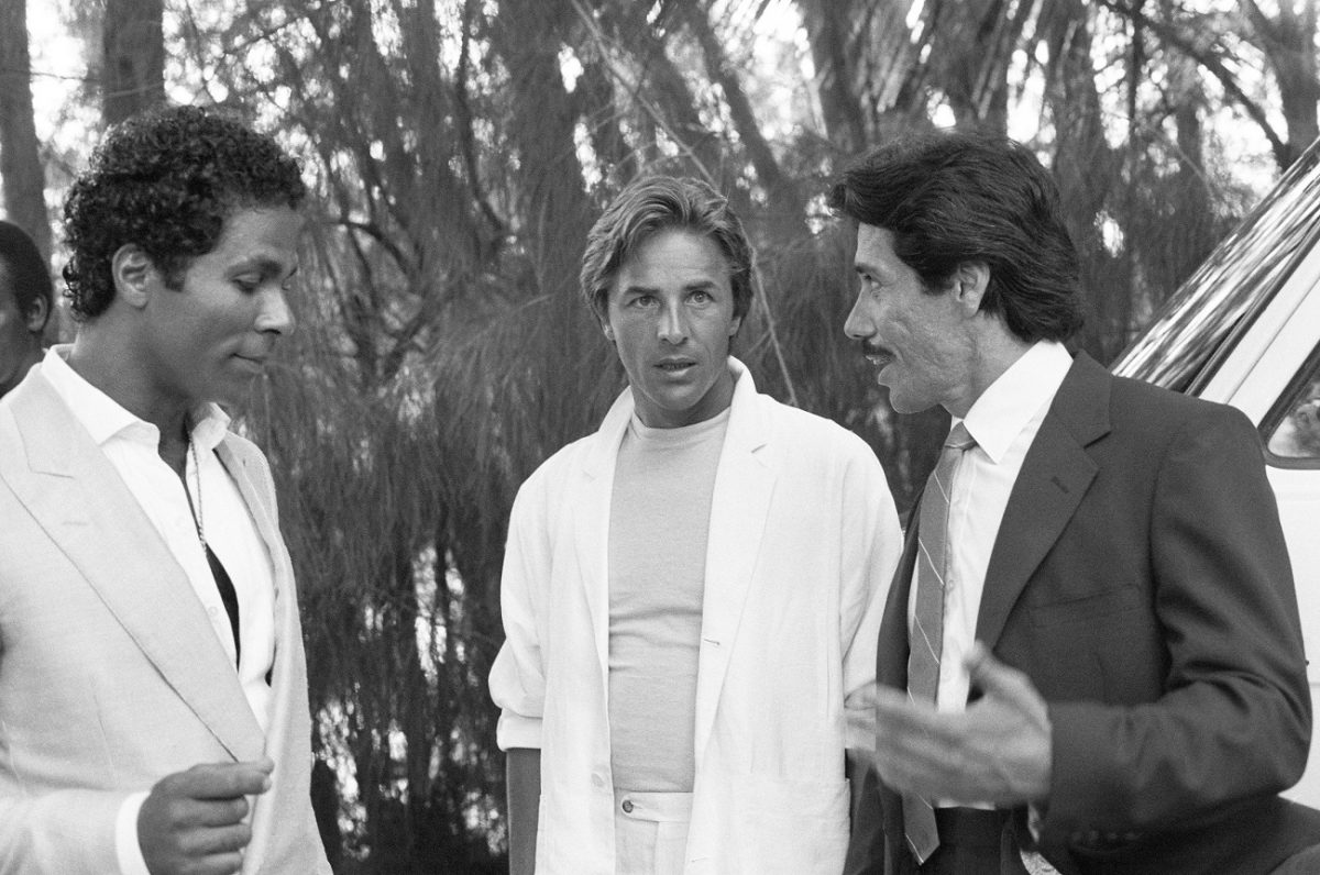 'Miami Vice' scene featuring Olmos, 1985