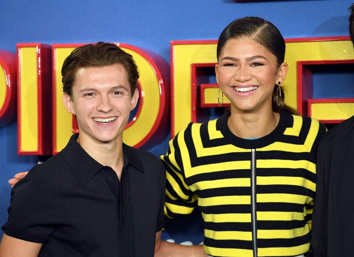 Tom Holland (L) and Zendaya (R) attend the 'Spider-Man: Homecoming' photocall on June 15, 2017, in London, England.