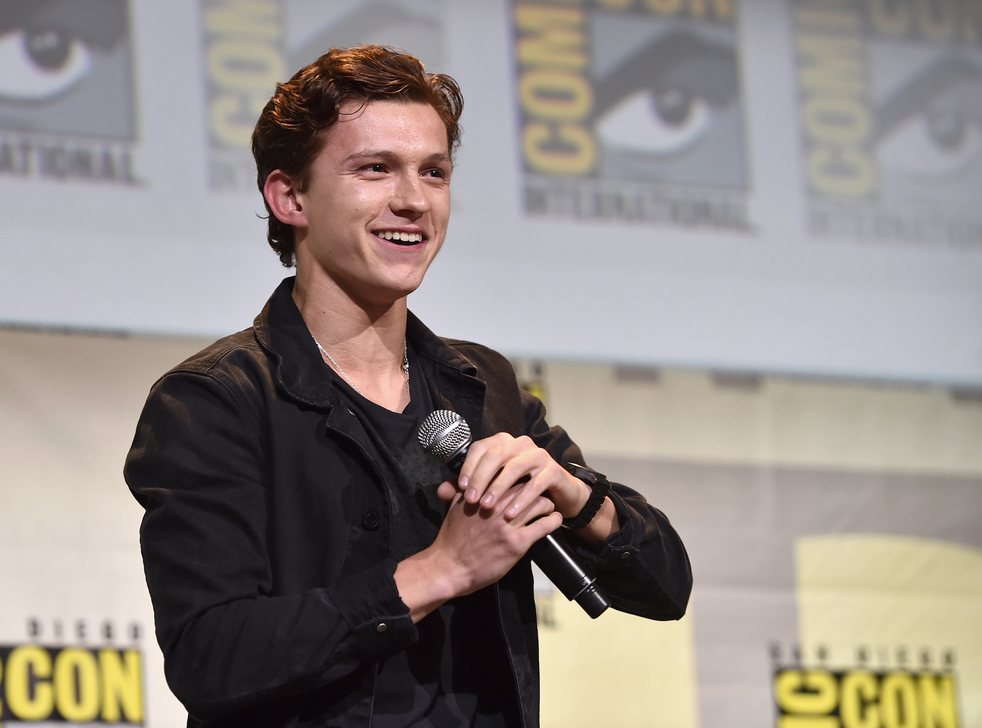 Tom Holland at the San Diego Comic-Con International 2016 on July 23, 2016