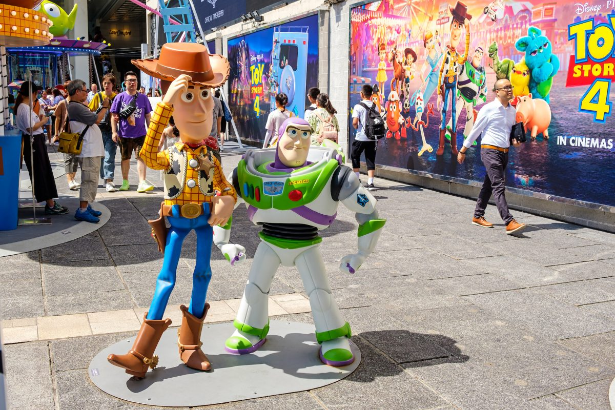 Replicas of Sheriff Woody and Buzz Lightyear