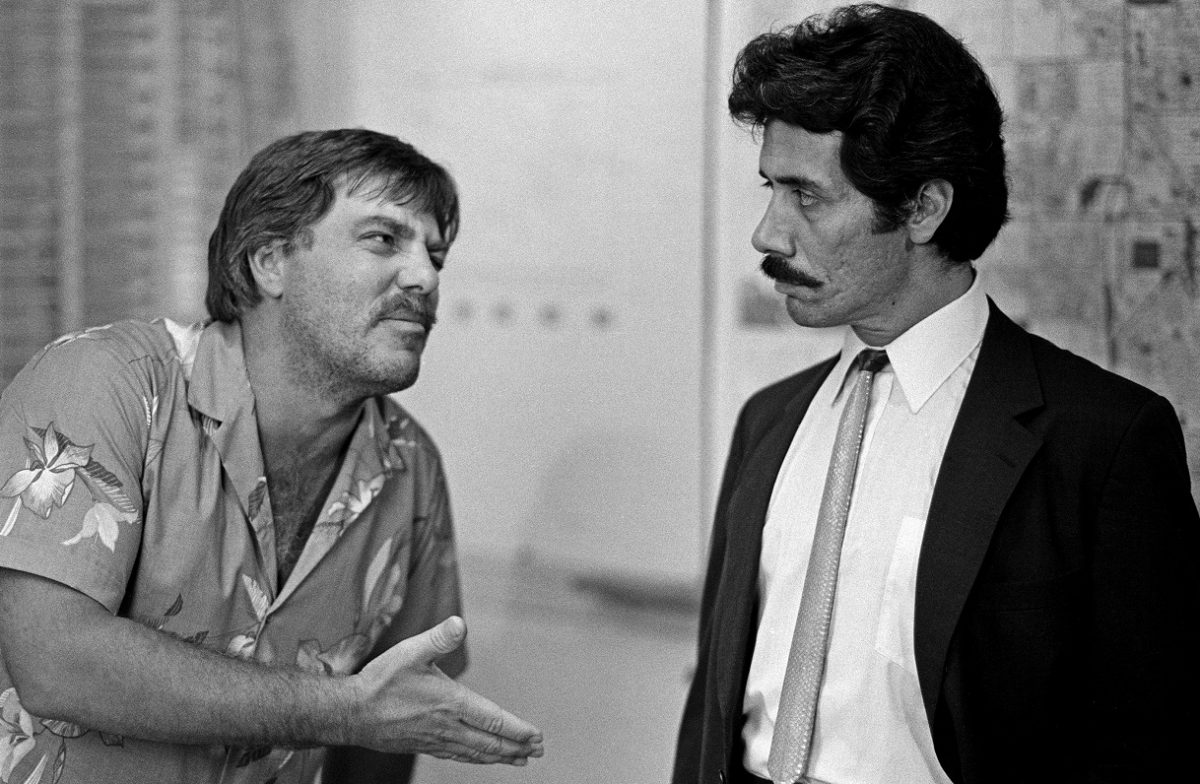 Bruce McGill and Edward James Olmos in 'Miami Vice'
