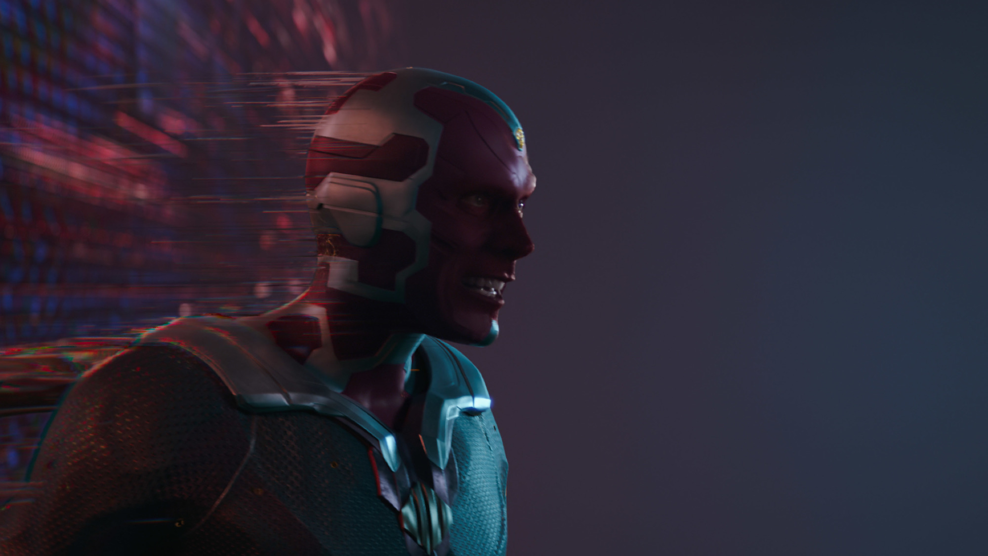 Paul Bettany as Vision trying to leave the Hex in 'WandaVision'