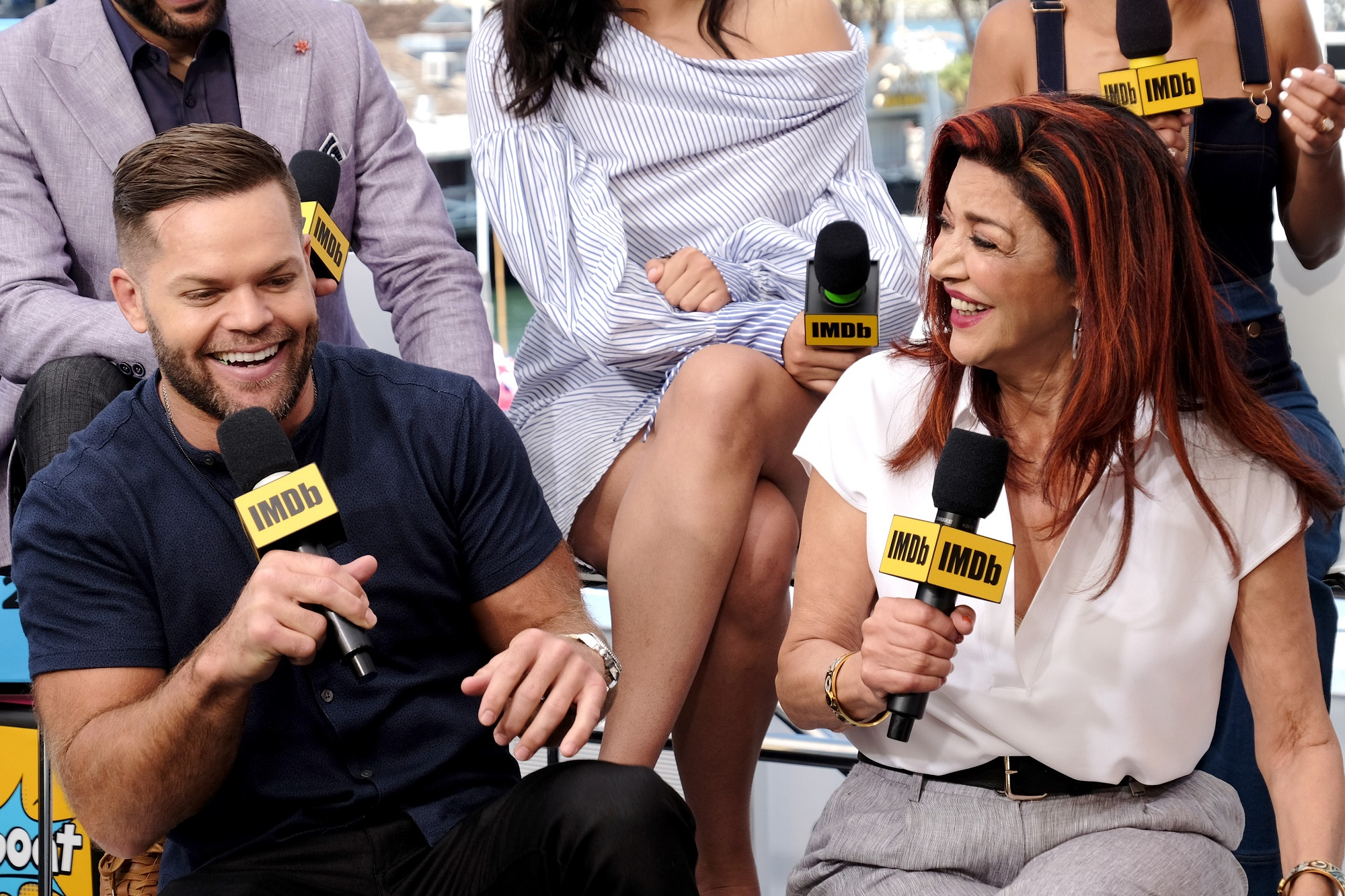 Wes Chatham and Shohreh Aghdashloo of The Expanse