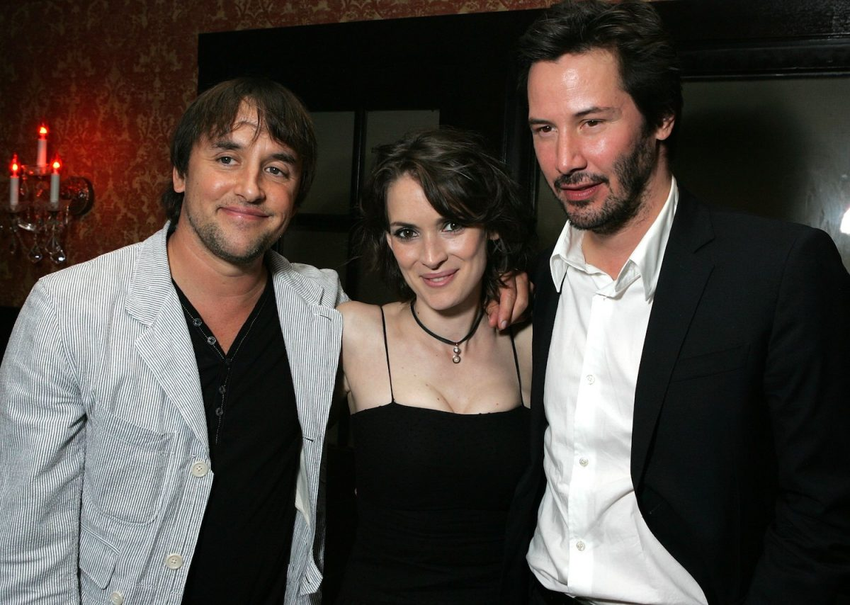 Winona Ryder, Keanu Reeves with Richard Linklater at the Los Angeles premiere after party of 'A Scanner Darkly'